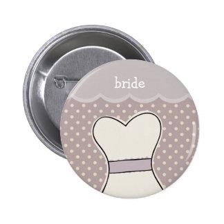 Bride -- Wedding dress // PURPLE Pinback Button