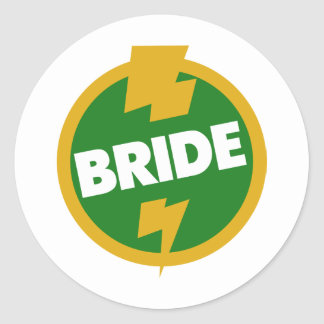 Bride Wedding - Dupree Classic Round Sticker