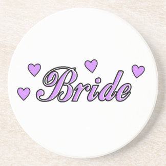 Bride Wedding Hearts Drink Coaster