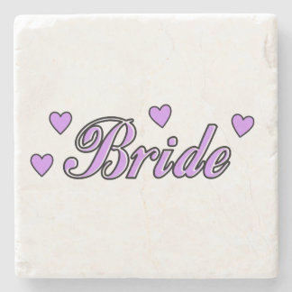Bride Wedding Hearts Stone Coaster