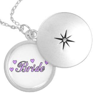 Bride Wedding Hearts Locket Necklace