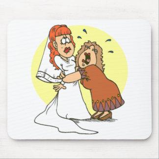 Bride wedding humor mouse pad