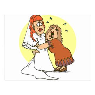 Bride wedding humor postcard