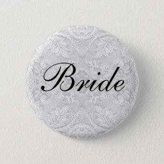 Bride Wedding lace white Button
