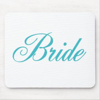 Bride Wedding Mousepad in Aqua Blue