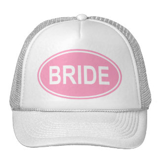 Bride Wedding Oval Pink Trucker Hat