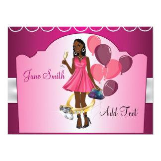 Bride Wedding Pink Bachelorette Invitation