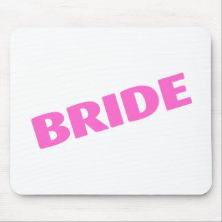 Bride Wedding Pink Mouse Pad