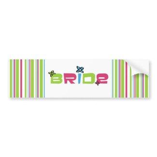 Bride Wedding Stickers bumpersticker