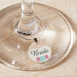 Bride Wedding Wine Charm