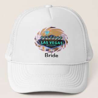 """""""Bride"""" Welcome To Our Las Vegas WEDDING Hat"""