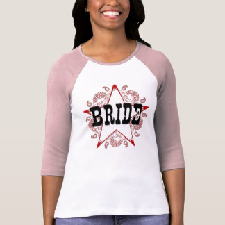 Bride Western Red T-Shirt