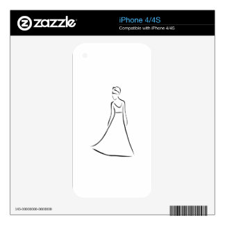 Bride with an elegant hairstyle iPhone 4S skin