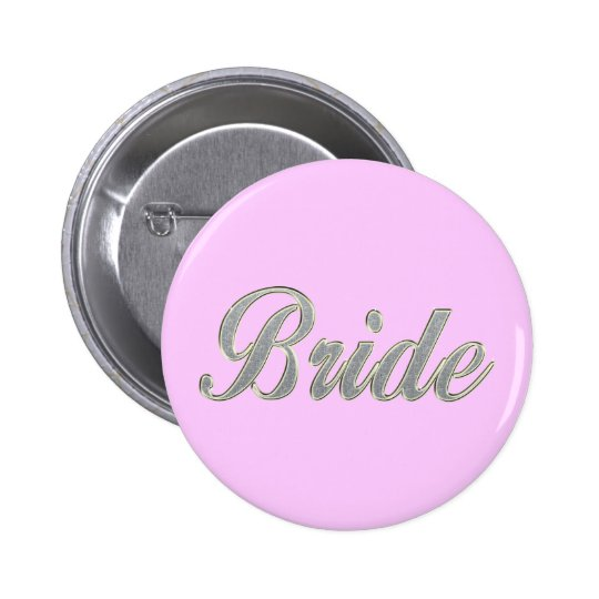 Bride with bling button