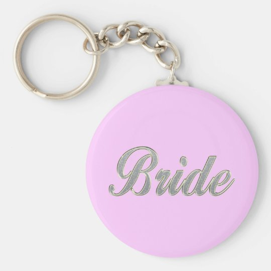 Bride with bling keychain
