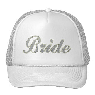 Bride with bling mesh hats