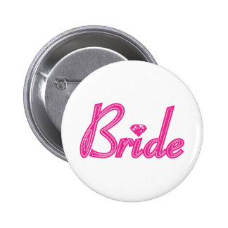 Bride with Bling - Pink Button