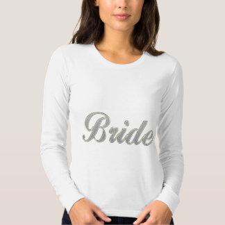 Bride with bling shirt