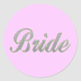 Bride with bling sticker