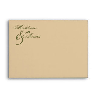 Bride with Bouquet Inspired Envelopes