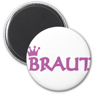 bride with crown icon magnets