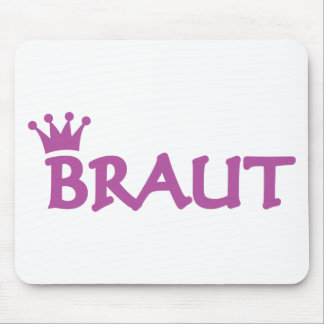 bride with crown icon mouse pad
