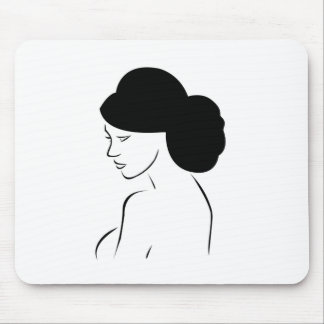 Bride with elegant hairstyle mouse pad