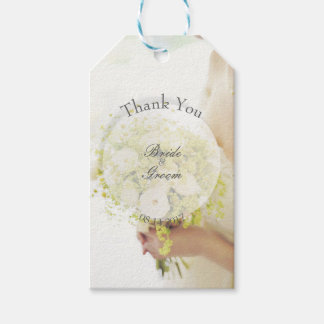 Bride with Flower Bouquet Editable Wedding Gift Tags