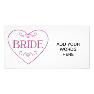 Bride (with heart and flourishes) card
