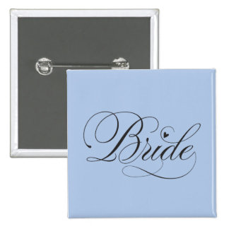 Bride with heart buttons