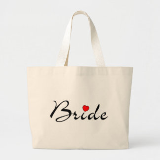 Bride with Heart Large Tote Bag