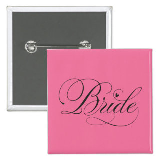 Bride with heart pin