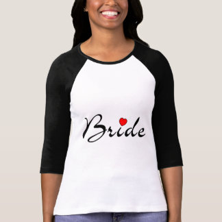 Bride with Heart Shirt