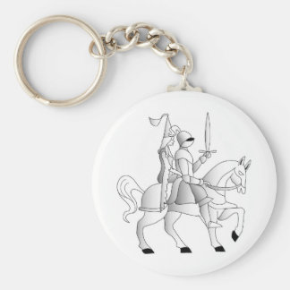 Bride with Knight in Shining Armor Keychain