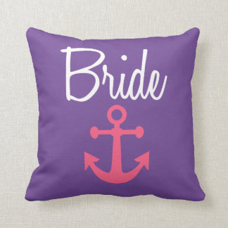 Bride with Pink anchor pillow