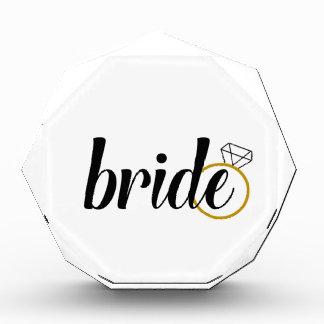 Bride with Ring Acrylic Award