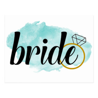 Bride with Ring Postcard