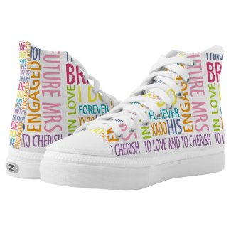 Bride Words Printed Shoes