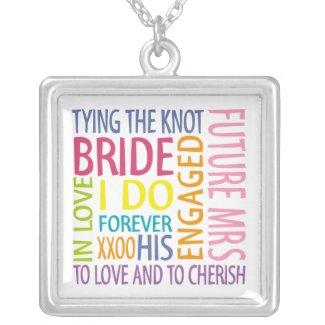 Bride Words Wedding Pendant necklace