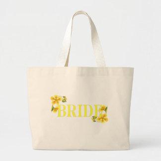 Bride yellow jumbo tote bag