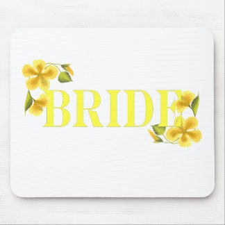 Bride yellow mouse pad