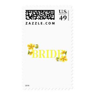 Bride yellow postage