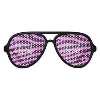 Bride Zebra Pattern 15x15.png Aviator Sunglasses