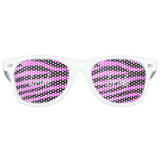 Bride Zebra Pattern 15x15.png Party Shades