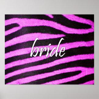 Bride Zebra Pattern Poster