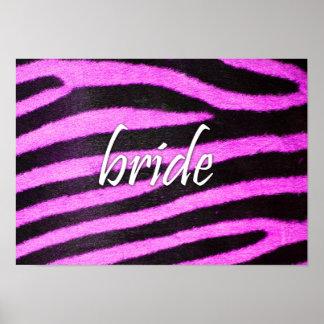 Bride Zebra Pattern Print