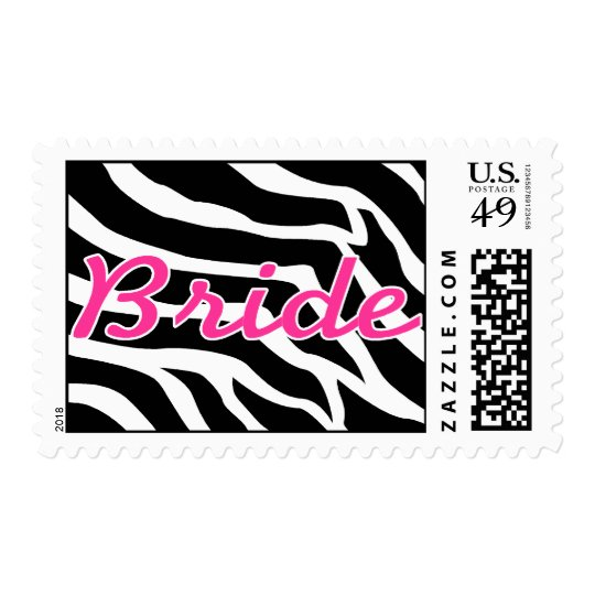 Bride Zebra Postage