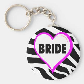 Bride  Zebra Stripes Keychain