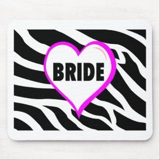 Bride (Zebra Stripes) Mouse Pad