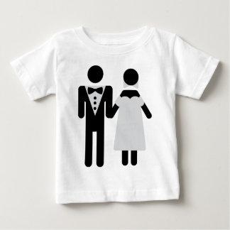 bridegroom and bride wedding icon baby T-Shirt